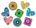 Hearts and Swirls (100) Erasers.  NEW