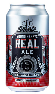 YOUNG HENRYS 4% REAL ALE LAGER 24 x 375ML TINNIES CARTON