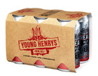 YOUNG HENRYS 4% REAL ALE LAGER 6 PACK x 375ML TINNIES