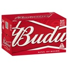 BUDWEISER BEER 330ML 24x STUBBIES CARTON