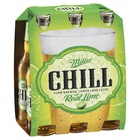 MILLER CHILL  6 PACK STUBBIES