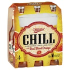 MILLER CHILL WITH REAL BLOOD ORANGE 6 PACK STUBBIES