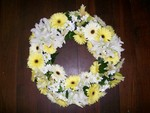 Gerbera and Lily Wreath