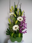Large Mordern Flower Arrangement in Ceramic Pot