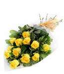 12 Yellow Roses ~ Delivered