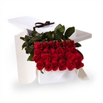 Two Dozen Boxed Red Roses