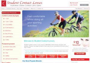 student contact lenses
