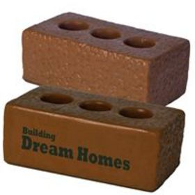 'Logo-Line' Anti Stress Brown House Brick