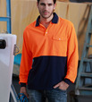'Bocini' Unisex Hi-Vis Long Sleeve Safety Polo