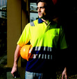 'Bocini' Unisex Hi-Vis Short Sleeve Polyface/Cotton Back Polo with Reflective Tape