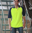 'Bocini' Unisex Hi-Vis Raglan Sleeve Safety Polo