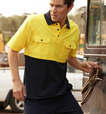 'Bocini' Unisex Hi-Vis Short Sleeve Cotton Jersey Polo