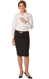 'Winning Spirit' Ladies Wool Blend Stretch, Mid Length Lined Pencil Skirt