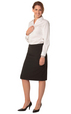 'Winning Spirit' Ladies Poly/Viscose Stretch Stripe Pencil Skirt