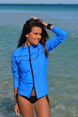 OCEAN BLUE Jacket Rashie
