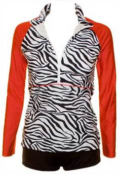 Red Tigress Rashie - Long Sleeve