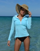 CHLORINE RESISTANT  Beautiful Blue Rashie - Long Sleeve