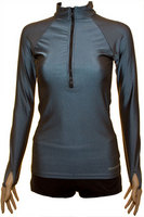 half zip long sleeve gunmetal colour