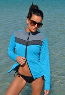 CHLORINE RESISTANT Jacket Rashie Blue Combo