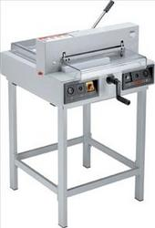 Ideal 4215 A3 Electric GuillotinePowerful office guillotine with electric operation perfect for effortless cutting and trimming of paper stacks or bound brochures with up to 40 mm height.