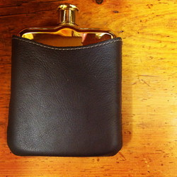 Leather flask cover