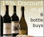 Discounts on 6 bottles of champagne