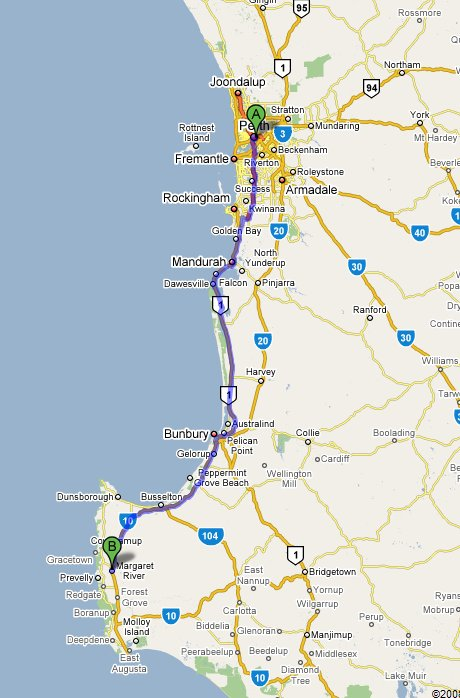 Perth to Margaret River