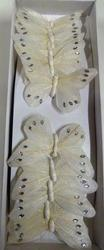White Butterfly with Glitter