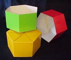 Hexagonal Box - Medium, Gloss.