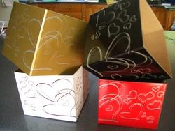 Heart Design Small Posy Box