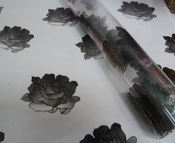 Cellophane - Large Black Rose Motif