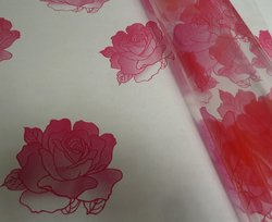 Cellophane - Large Red Rose Motif