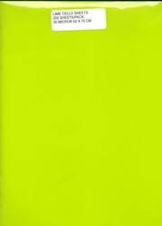 Cello Sheets - LIME GREEN