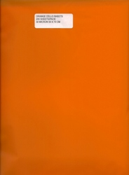 Cello Sheets - ORANGE