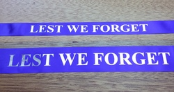 LEST WE FORGET RIBBON 25mm SATIN