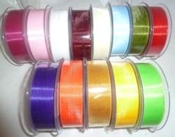 ORGANZA 25MM X 50 METRE ROLL