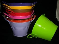 Coloured Round Pail