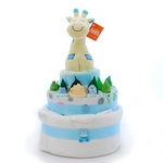 Nappy Cake Blue Giraffe