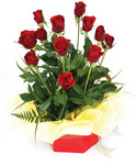 Boxed Rose Arrangement (12)