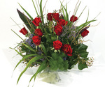 Red Rose Aqua Pack Bouquet