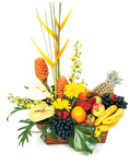 Gift Baskets Fruit and Tropical Flower Basket