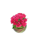 Rose Posy in glass fishbowl