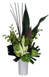 Tall Tropical Arrangement - Green and White