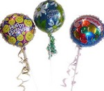 Air filled foil balloon - Happy birthday, Get well, New baby.