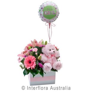 Baby flowers perth baby gifts perth western australia its a girl 314 negle Images