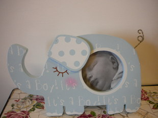 Elephant Photo Frame Blue