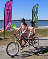 Tandem Beach Cruiser Bike Hire only $50.00 1/2 Day (< 4 Hrs)