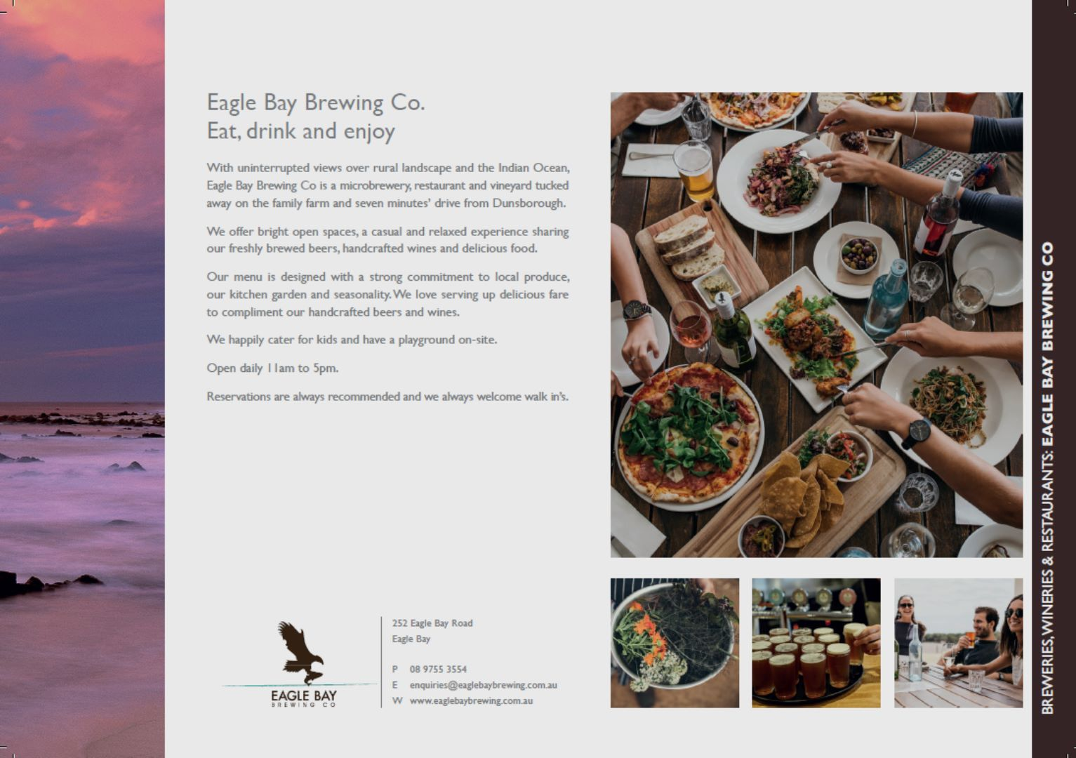 16/17 Experiences Compendium - Eagle Bay Brewing Co