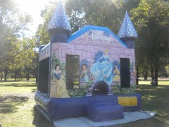Disney Princess Bouncy Castle on Site in Perth