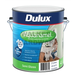 DULUX AQUANAMEL SEMI GLOSS WHITE 2L
